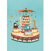 """GreenBox Art """"Teacup Carousel"""" by Irene Chan Graphic Art on Canvas"""