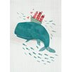 "GreenBox Art ""Whale In Love"" by Irene Chan Graphic Art on Canvas"