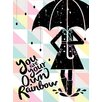 """GreenBox Art """"Wheatpaste Rainboot"""" by Vision City Graphic Art on Canvas"""