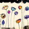 "GreenBox Art ""Painted Poppy Field"" by Sara Franklin Graphic Art on Canvas"