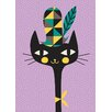 "GreenBox Art ""Modern Kitty"" by Amy Blay Graphic Art on Canvas"