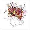 "GreenBox Art ""Botanic Elephant"" by Katie Vernon Graphic Art on Canvas"