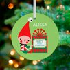 GreenBox Art Little Baby's First Christmas Personalized Ornament by Amy Blay