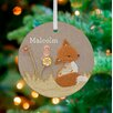 GreenBox Art Vintage Fox Personalized Ornament by Kristen White