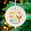 GreenBox Art Holiday Baby and Deer Personalized Ornament by Suzy Ultman