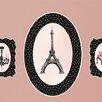 "GreenBox Art ""Pretty In Paris Peel and Place"" by Sherri Blum Window Sticker"