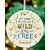 GreenBox Art All Good Things Are Wild and Free Personalized Ornament by Katie Daisy