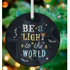 GreenBox Art Be A Light to the World Personalized Ornament by Katie Daisy