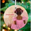 GreenBox Art Perfect Ballerina African American Personalized Ornament by Kristina Bass Bailey