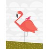GreenBox Art 'Fancy Flamingo' by Stacy Amoo Mensah Painting Print on Canvas