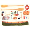 GreenBox Art 'Outdoor Canoeing' by Small Adventure Painting Print on Canvas