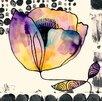 GreenBox Art 'Curved Poppy' by Sara Franklin Painting Print on Canvas