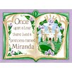 "GreenBox Art ""Once Upon a Time Storybook Personalized"" by Sherri Blum Wall Mural"