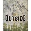 GreenBox Art 'Wheatpaste Get Outside' by Fancy That Design House and Co Graphic Art on Canvas