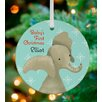 GreenBox Art Edison the Elephant Holiday Personalized Ornament by Meghann O'Hara