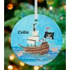 GreenBox Art Yo Ho Pirate Ship Personalized Ornament by Winborg Sisters
