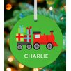 GreenBox Art Ways To Wheel Train Personalized Ornament by Vicky Barone