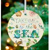 GreenBox Art Take Me To The Sea Ornament by Katie Daisy