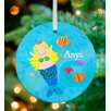 GreenBox Art Blonde Mermaid Personalized Ornament by Jill McDonald