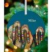 GreenBox Art Designer Walruses Personalized Ornament by Eli Halpin