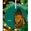 GreenBox Art Holiday Bison Personalized Ornament by Eli Halpin