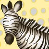 Oopsy Daisy Zoey the Zebra Canvas Art