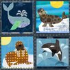 Oopsy Daisy Winter Animals Canvas Art