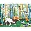 Oopsy Daisy Meeting in the Woods Canvas Art