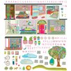 Oopsy Daisy Boho Modern Dwelling Peel and Place Wall Decal Set