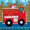 Oopsy Daisy Fire Truck Canvas Art