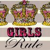 Oopsy Daisy Girls Rule Canvas Art