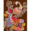 Oopsy Daisy Folk Fairy Tale - Peacock Canvas Art