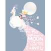 Oopsy Daisy I Love You to the Sun and the Moon Canvas Art