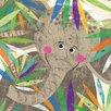 Oopsy Daisy Peeking Jungle Buddies - Elephant Canvas Art
