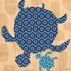 Oopsy Daisy Geo Sea Turtles Canvas Art