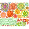 Oopsy Daisy 146 Pieces Radiant Flowers Peel and Place Wall Decal Set