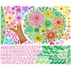 Oopsy Daisy Flower Tree Peel and Place Wall Decal Set