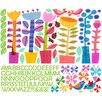 Oopsy Daisy Spring Jazz Peel and Place Wall Decal