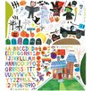 Oopsy Daisy 194 Piece Happy Halloween Peel and Place Wall Decal Set