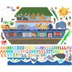 Oopsy Daisy 128 Pieces Noah's Ark Peel and Place Wall Decal Set