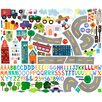 Oopsy Daisy 173 Pieces On the Road Again Peel and Place Wall Decal Set