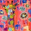 Oopsy Daisy Giraffe Color Wash Canvas Art
