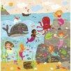 Oopsy Daisy Mermaid Mingle and Play Canvas Art