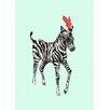 Oopsy Daisy Zebra Prance Canvas Art