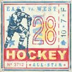 Oopsy Daisy Game Ticket Hockey by Roger Groth Graphic Art on Wrapped Canvas