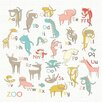 Oopsy Daisy Zoo Alphabet by Nicole LaRue Canvas Art