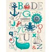 Oopsy Daisy Nautical ABCs by Sarah Lowe Personalized Canvas Art