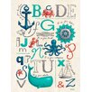 Oopsy Daisy Nautical ABCs by Finny and Zook Canvas Art