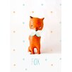 Oopsy Daisy Paper Mache Fox by Paola Zakimi Canvas Art