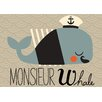 Oopsy Daisy Monsieur Whale by Amy Blay Canvas Art